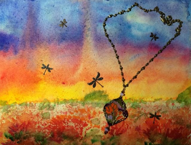 Poppies midst Skyfire