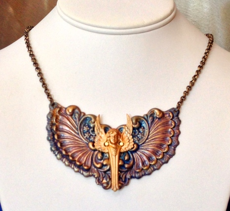 Art Deco Angel Necklace