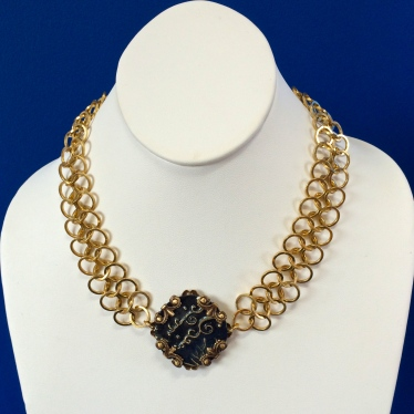 Midnight Chain Maille Necklace