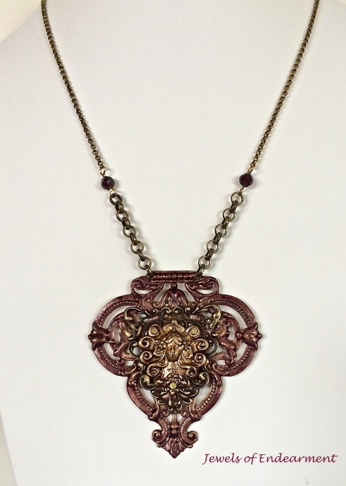 Garnet Goddess Necklace
