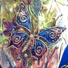 Sapphire Butterfly closeup