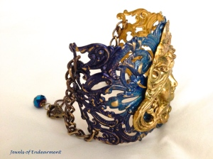 Side view of the Sapphire Star Goddess Bracelet
