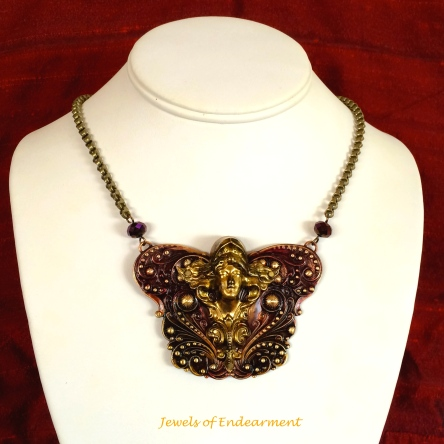 Masthead Maiden Necklace in Burgundy