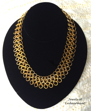 Chain Maille Necklace Simple and elegant this necklace is made with special square wire formed into multiple rings and hand woven.