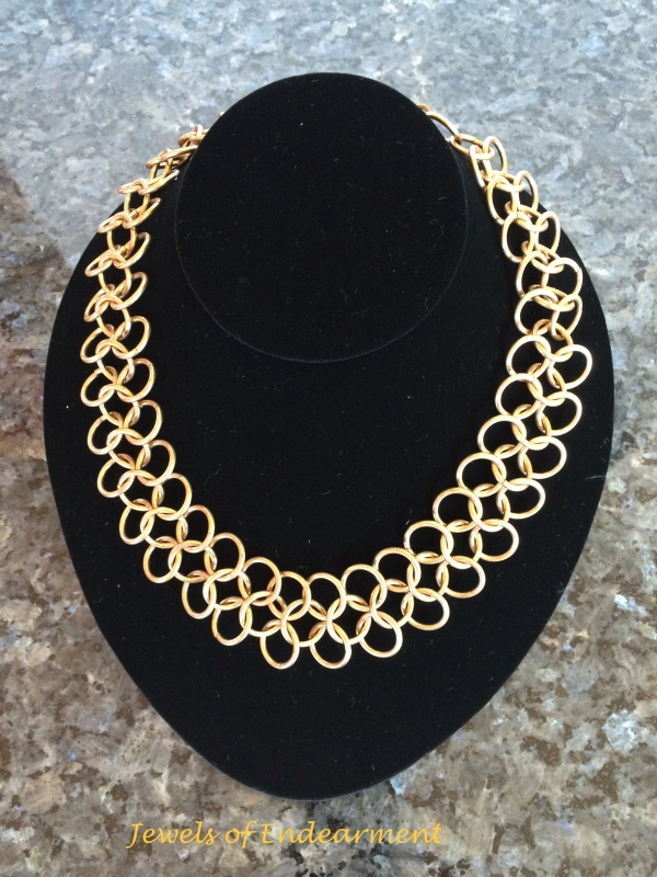 Chain Maille Grande Large rings make a definite statement!