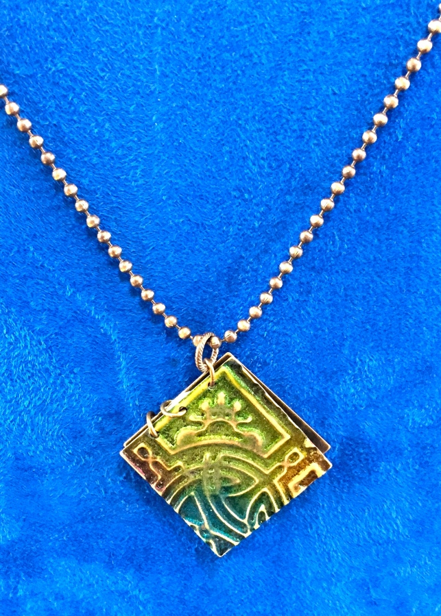 Mischief Managed Necklace Layered, embossed and tinted with ink you can find your way through the castle using the Marauders Map!