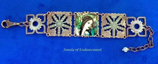 Woman in Emerald Bracelet