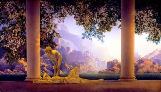 Daybreak by Maxfield Parrish