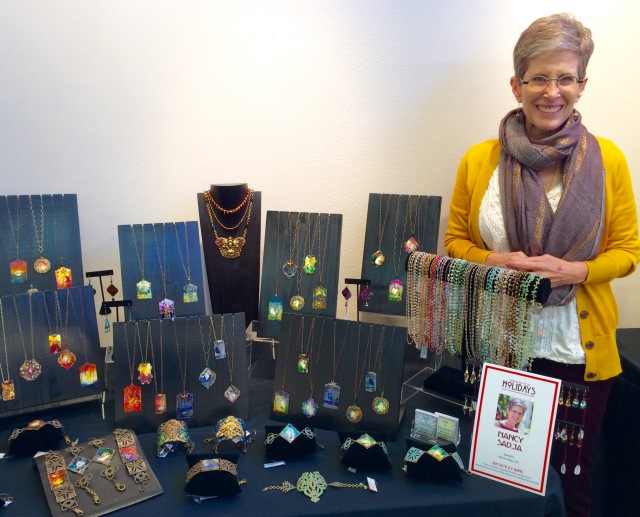 Setting up for Handcrafted for the Holidays Show at Studios on the Park